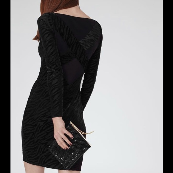 Reiss Dresses Long Sleeve Black Perrin Cocktail Dress Sz 2 Poshmark